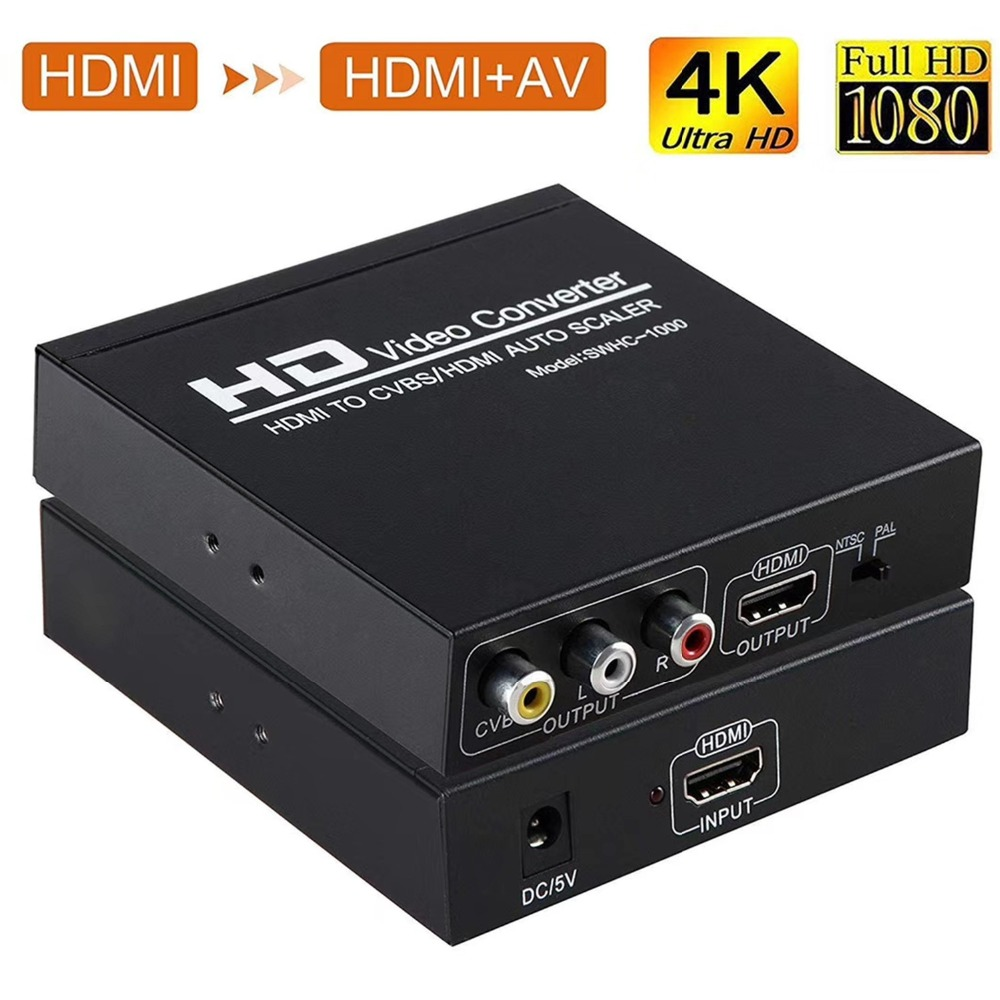 HOT SALE] 1080P HDMI to AV RCA HDMI converter scaler