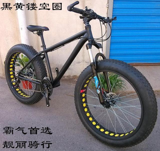 KALOSSE 26*4.0 inch banden volledige stopzetting 'strand mountainbike 21/24/27/30 speed Vet fiets, bicicleta mountainbike