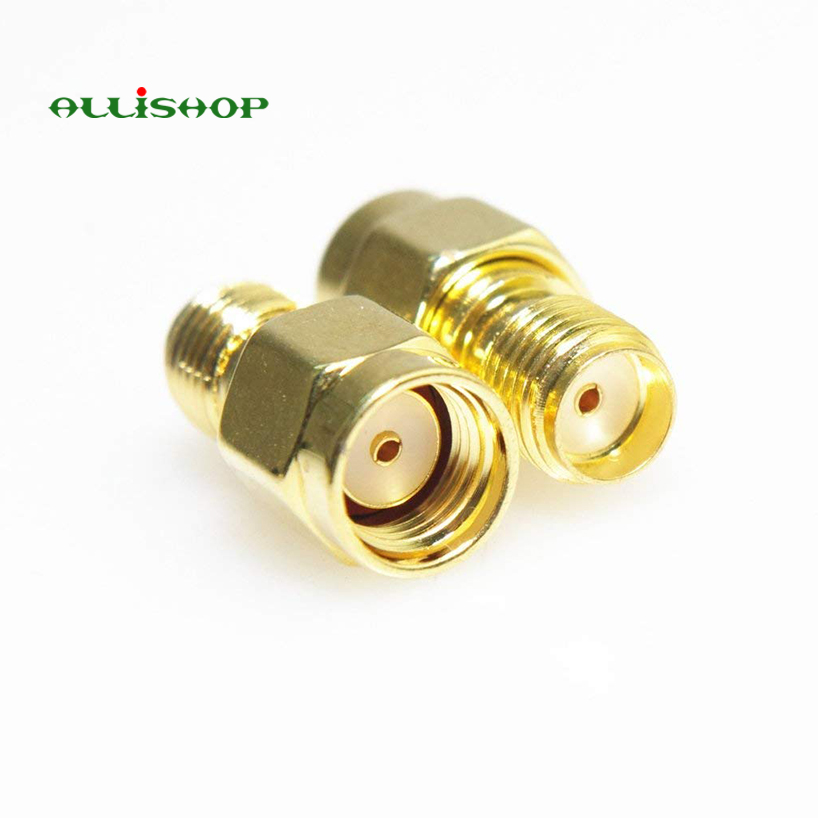 ALLiSHOP RF SMA Connector SMA Female to RP SMA Male Plug Connectors Adapter Gold Plated Straight Coaxial RF Adapters цена