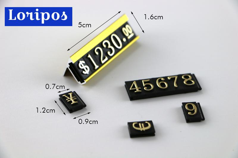 Counter Top Jewelry Price Cube Ring Toy Jewelry Pricing Tag Table Desk Price Talker Block Kit $ Euro Number Sign Label Assembly