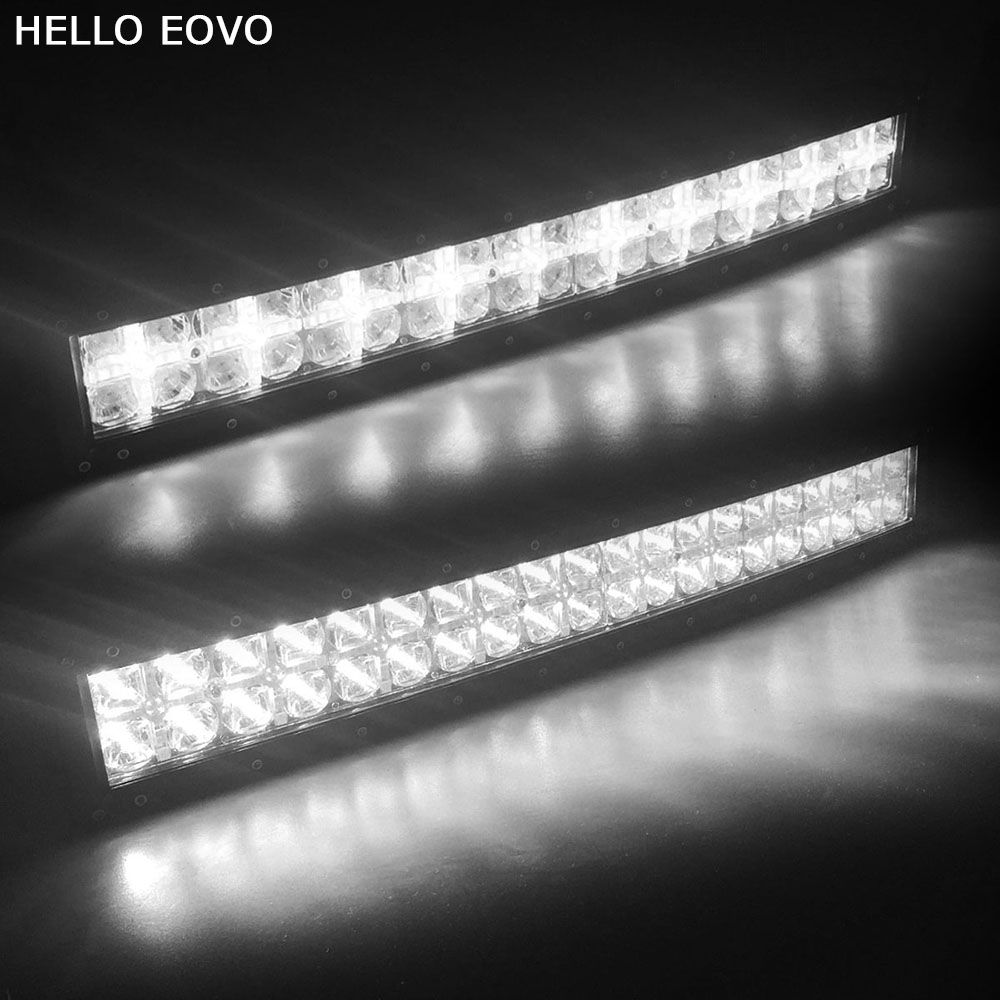 цена на HELLO EOVO 7D Curved 22 inch 200W with DRL LED Work Light Bar for Tractor Boat OffRoad 4WD 4x4 Truck SUV ATV Combo Beam 12V 24v