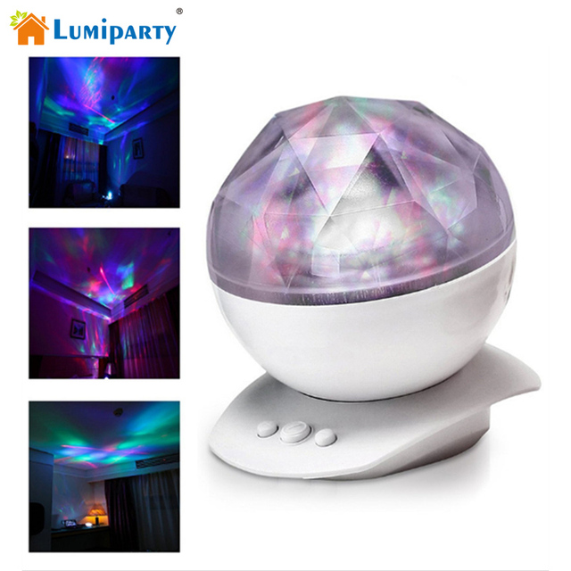 Lumiparty Romantic Rotating Aurora Projector Light With 8 Lighting ...
