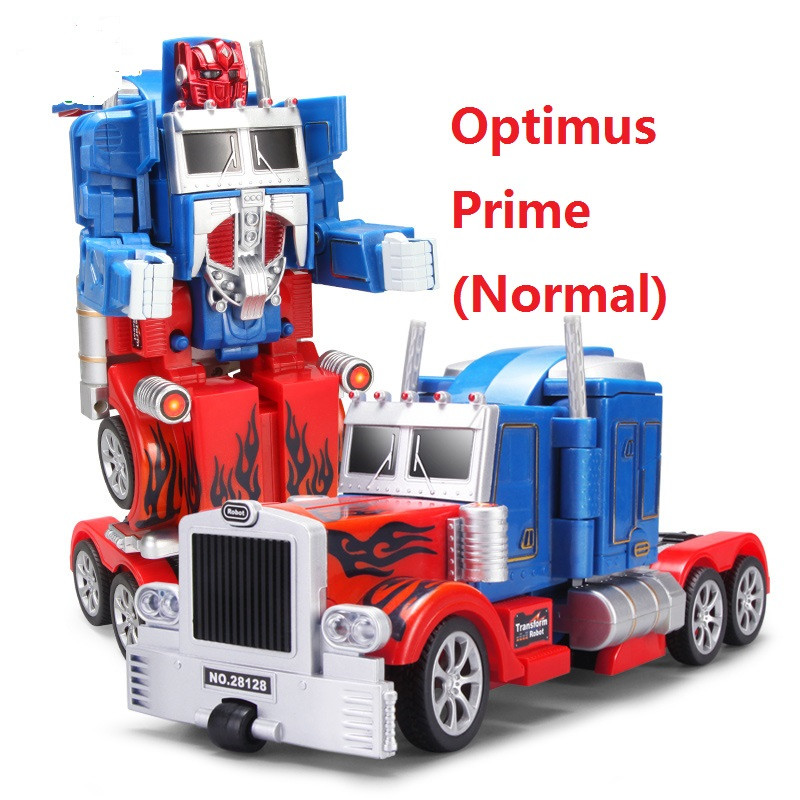 ThinkEasy RC Transformation 4 electric Toys one key remote control prime children robot car action figures class Boys Gift 4