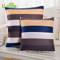 U-Miss 2-em-1 Multifuncional Carro de Volta Flores Cobertor Ar Condicionado Travesseiro Colcha de Algodão Para Almofada Almofadas Decoração Da Sua Casa