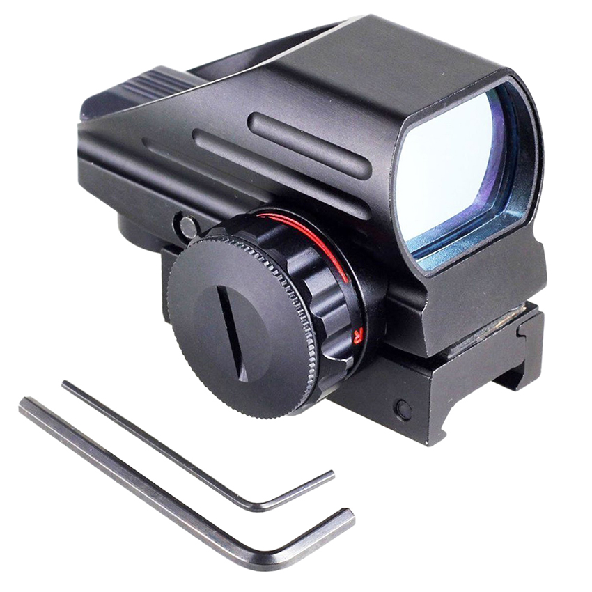 Hunting Accessories Rifle Military Tactical Holographic Reflex Red Green Laser Dot Sight 1 X Scope 20mm Picatinny Rail