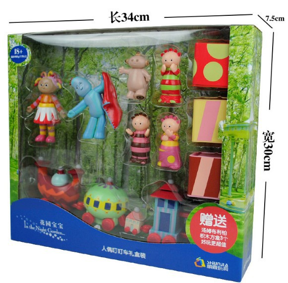 Cartoon Action Figure In The Night Garden Series Baby TV Toy Doll Infant Music Toy Ninky Nonk ding Car Musical Action Figure