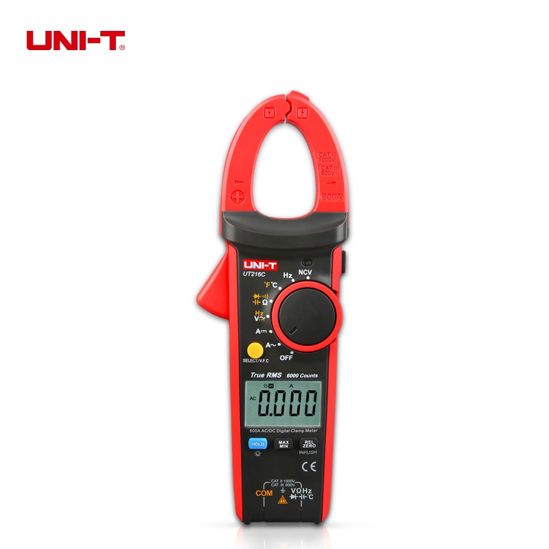 UNI-T UT216C True RMS Digital Clamp Meters Frequency Capacitance Temperature & NCV Test Thermometer цена