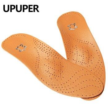 7050dd04 Plantillas ortopédicas de cuero de alta calidad UPUPER para plantillas de  masaje de corrección de pies planos para hombres y mujeres