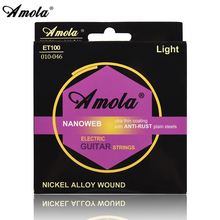 Amola Electric Guitar Strings Set 009 010 Super Light NANBrilliant Tone Round Wound Ulra 09/10 Electric Guitar String