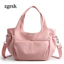 Simple Large Capacity Handbags Casual Zipper Oxrofd Shopping Bags For Women Fashion Female Shoulder Bag Bags Luxury Korean Style