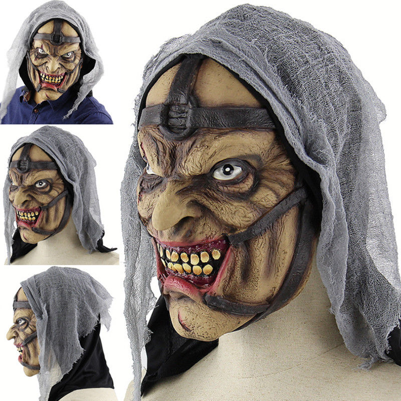 Scary Halloween Mask Face Horror Props Decoration Zombie Fancy Head Cosplay Costume Gift  2018 Mask