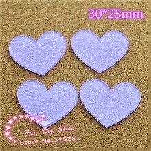 acrylic shiny light purple heart Cabochon Flat back Scrapbooking free shipping 50pcs/lot 30*25mm