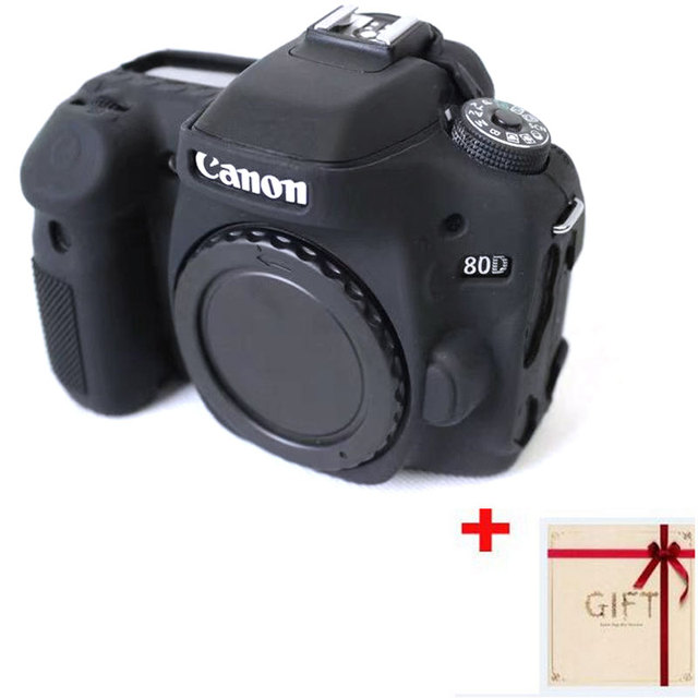 high quality soft silicone camera cover for canon eos 80d rubber
