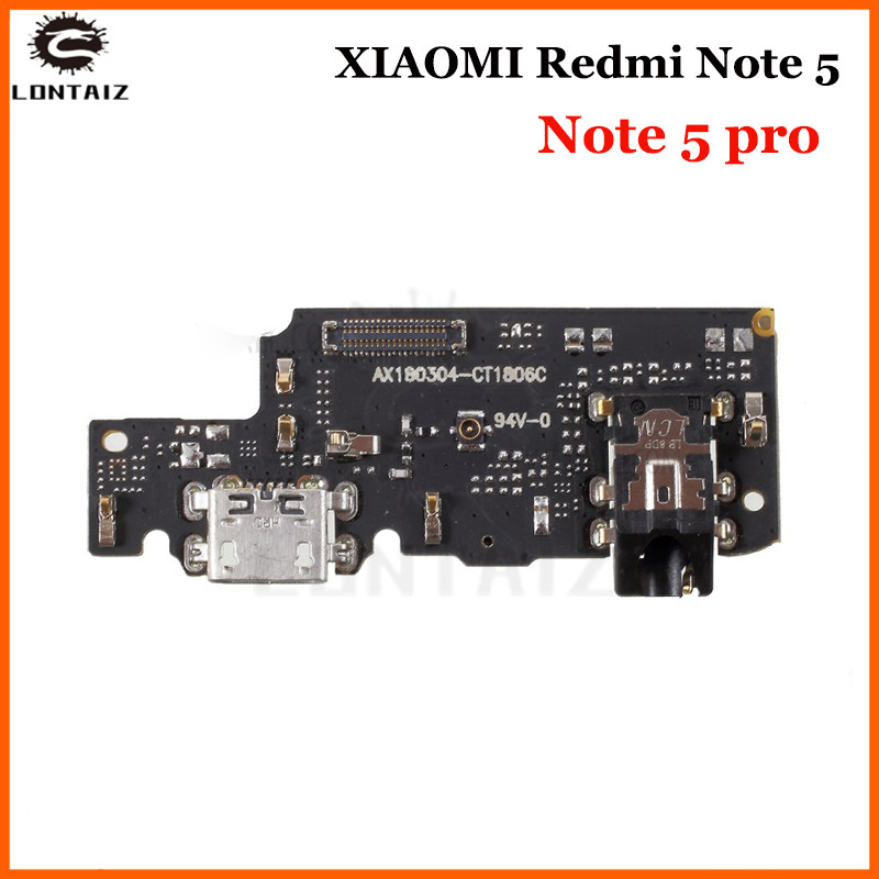 For Xiaomi Redmi Note 5 Pro USB Charging Port Board Flex Cable Connector Parts With Microphone Module Replacemen
