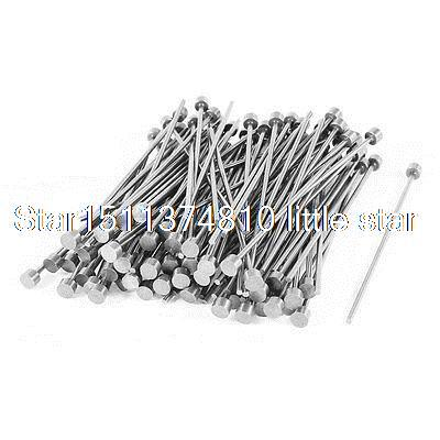 2mm Tip 5mm Shank Diameter Steel Straight Ejector Pin Machinist 100pcs 100pcs opener ejector sim card tray tool open eject pin for mobile phone