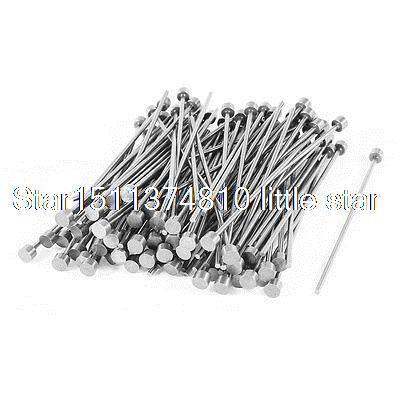 2mm Tip 5mm Shank Diameter Steel Straight Ejector Pin Machinist 100pcs