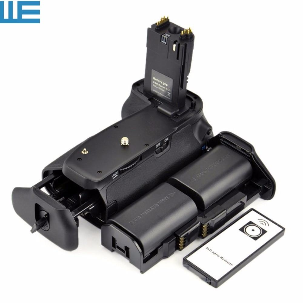 BG E9 Battery Grip IR Remote Control LP E6 Battery Holder AA Battery Holder 2XLP E6