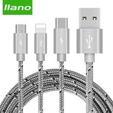 Llano USB Loại C Nhanh Sạc usb c Loại cáp c dữ liệu Dây Sạc Điện Thoại Cho ipad pro Samsung S9 s8 Lưu Ý 9 pocophone F1 Xiaomi