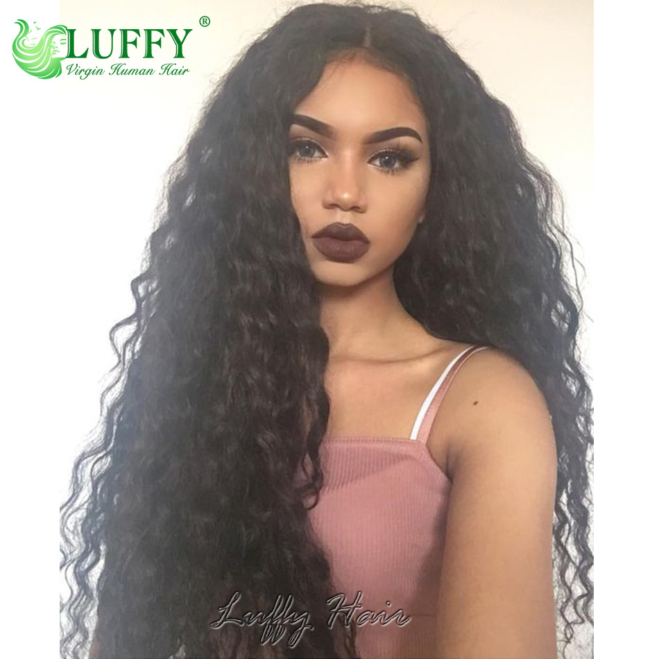 High 180 Density Full Lace Human Hair Curly Wigs With Baby