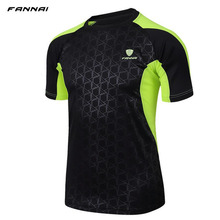 FANNAI Brand men Tennis Outdoor sports O-neck Quick Dry Breathable Run badminton male Short sleeve t shirts tops tees clothing