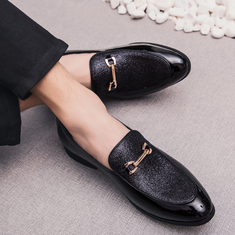 Fashion Pointed Toe business Dress Shoes Men Loafers Leather Oxford Shoes for Men Formal Mariage slip on Wedding party Shoes k3 2