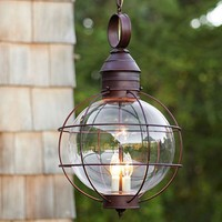 Iron Industrial Loft outdoor Pendant Lamp Globe Multipurpose Hanging Lights For garden Aisle with glass lampshade