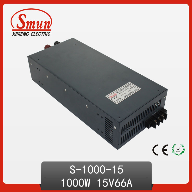 SMUN 1000W 15V 66A High Efficiency Switching Power Supply SMPS For Industrial Control System