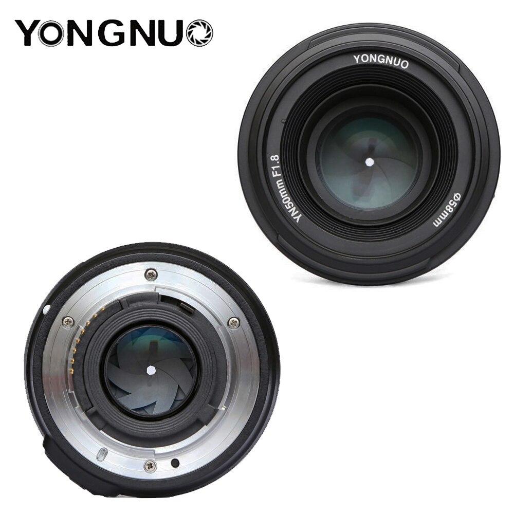 Objectif YONGNUO YN50mm F1.8 objectif de caméra reflex numérique YONGNUO à grande ouverture pour canon pour Nikon D800 D300 D700 D3200 D3300 D5100 - 5