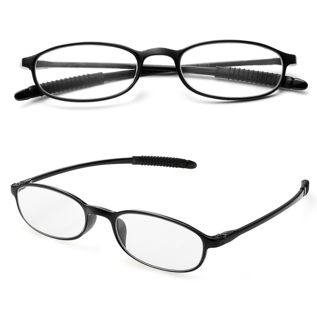 Unisex +1.00~+4.0 Diopter Elders Vision Care Ultra-light Fashion Presbyopic Reading Glasses Resin Anti-skidding Eyeglasses