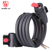 WHEEL UP Alloy ABS Plastic 1.8m Anti Theft Bike Lock Bicycle Accessories Steel MTB Motorcycle Wire Security Bicycle Cable Lock