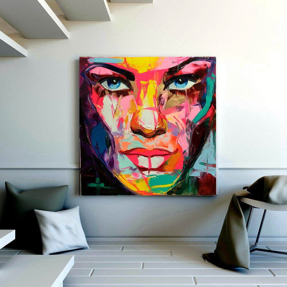 Portrait Abstract Face Woman Artwork Wall Art Living Room Wall Decor Canvas Painting Print Knife Paint Dropship Christmas Gift Abstract Face Paintings Oil Paintingart Oil Painting Aliexpress