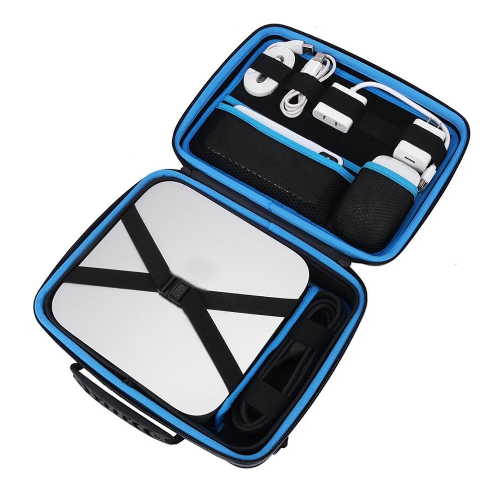 Travel Carrying Case for Apple Mac mini Desktop & Accessories Portable Storage Bag Shockproof Pouch Handbag Shoulder Bag Cover