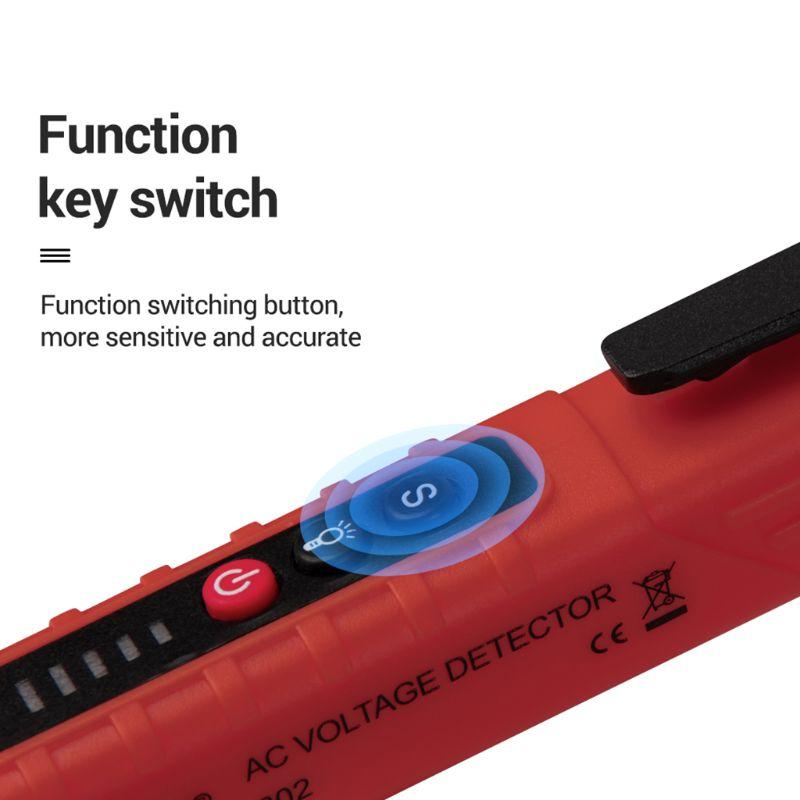 VD802 Non-contact AC Voltage Detector Tester Meter 12V-1000v Pen Style Electric Indicator LED Outlet AC Induction Voltage Dectet