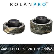 ROLANPRO Camera Lens Camouflage Rain Cover Raincoat for Sony DSLR Camera Barlow Guns Clothing Lens Barlow Protection Sleeve