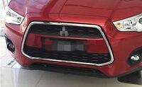 ABS Хром Передняя решетка решетки Рамки для Mitsubishi ASX/Outlander Sport 2013 2015