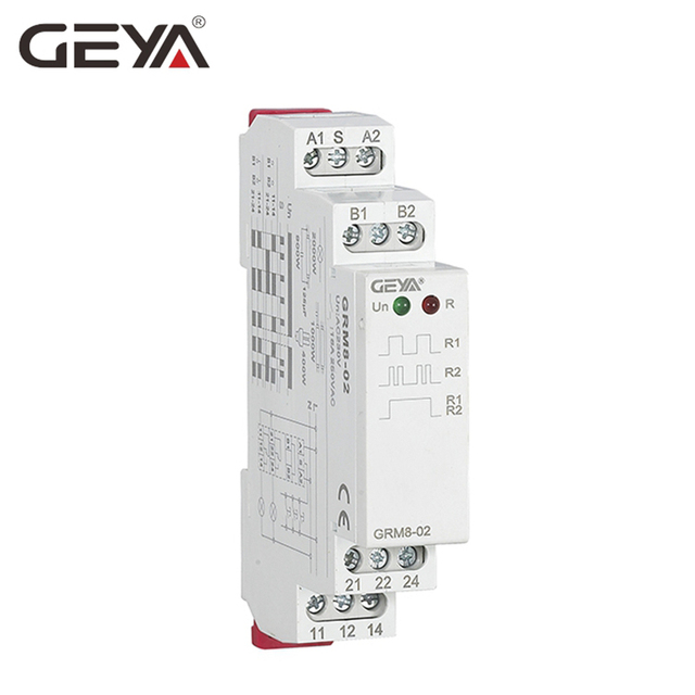 GEYA Din Rail Latching Relay 220V Impulse Relay DC12V 24V 16A Electronic Relay with CE CB certificate