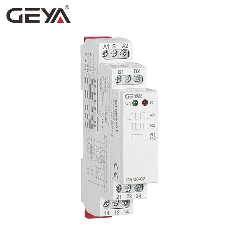 GEYA Trilho Din Relé 220 V Relé de Impulso DC12V 24 V 16A Relé Eletrônico com CE certificado CB