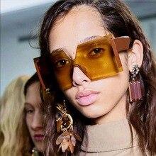 Sunglasses 2018 New Big Box Sunglasses Woman Brand Designer Men's Sunglasses Fashion Personality Retro Sunglasses