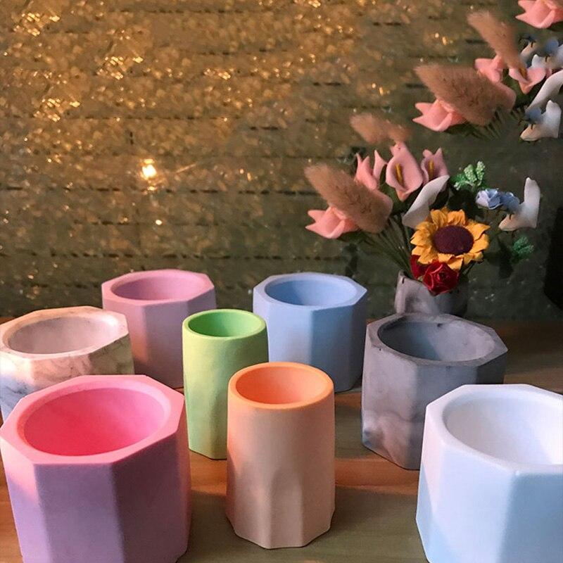 Gypsum Pot Bunga Korea Lilin Cetakan Sukulen Mini Pot Bunga Cetakan Rangkaian Bunga Vas Bunga Cetakan Gypsum Aroma Cetakan Tanah Liat Cetakan Aliexpress