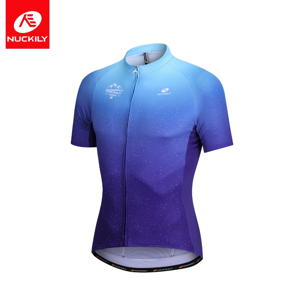NUCKILY Men s Cycling Jersey Summer Mesh Fabric Short Sleeve Bicycle  Breathable Clothing Quick Dry Mountain Bike Clothes MG021 -in Cycling  Jerseys from ... 27cf39a4d