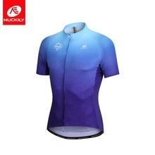 NUCKILY Pánské cyklistické dresy letní síťoviny krátký rukáv cyklistické oblečení rychlé suché horské kolo oblečení MG021