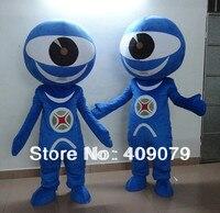 Globo ocular olhos azuis do traje da mascote para adultos de usar