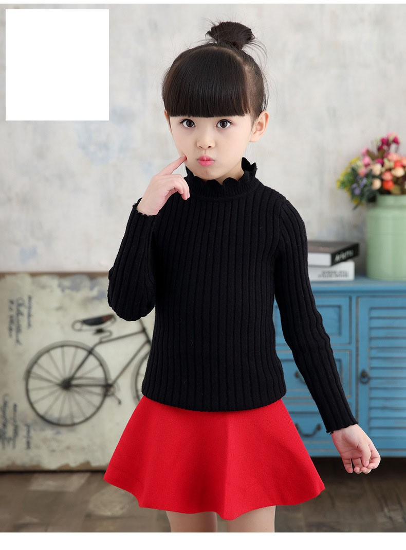 knitting big baby girls sweaters kids winter sweater 2016 long sleeve tops knitted kids sweaters girls pink green black kids top (13)