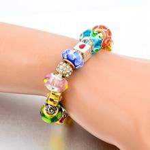 Szelam 2017 Crystal Flower Charm Bracelets For Women European 925 Silver Bracelets & Bangles DIY Jewelry Pulseras SBR160015