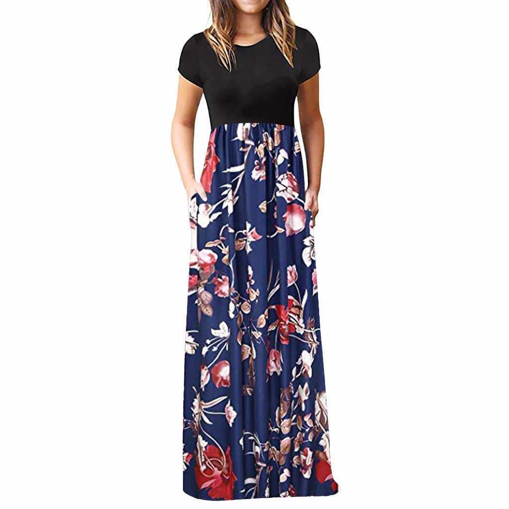 Vestido de manga corta Vintage, Sexy, estampado bohemio, para mujer, con estampado Floral, ceñido, ceñido, hasta la cadera, 2020