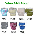 3 color chioce waterproof  hook and loop  Adult cloth diaper cover Nappy nappies bamboo diaper diapers S