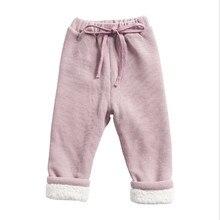 Теплые брюки для детей среднего и маленького возраста, брюки из овечьей кожи для мальчиков и девочек на осень и зиму, плотные повседневные вельветовые штаны