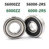 50pcs/lot 6000ZZ  6000-2RS S6000ZZ S6000-2RS  10*26*8 stainless steel deep groove ball bearing 6000 10x26x8 mm