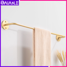 Brass Towel Bar Single Gold Towel Holder Rack Toilet Wall Mounted Towel Rack Hanging Holder Round Shape Bathroom Accessories free shipping becola single towel bar gold plated towel rack solid brass towel holder bathroom accessories br 5509