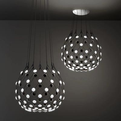 Nordic Creative Pendant Lights Art Led Mesh Hanging Lamp For Living Room Kitchen Light Fixtures Industrial Home Decor Luminaire Pendant Lights     - title=